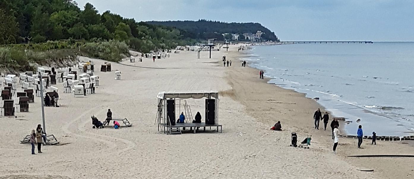 Strand Heringsdorf Richtung Ückeritz