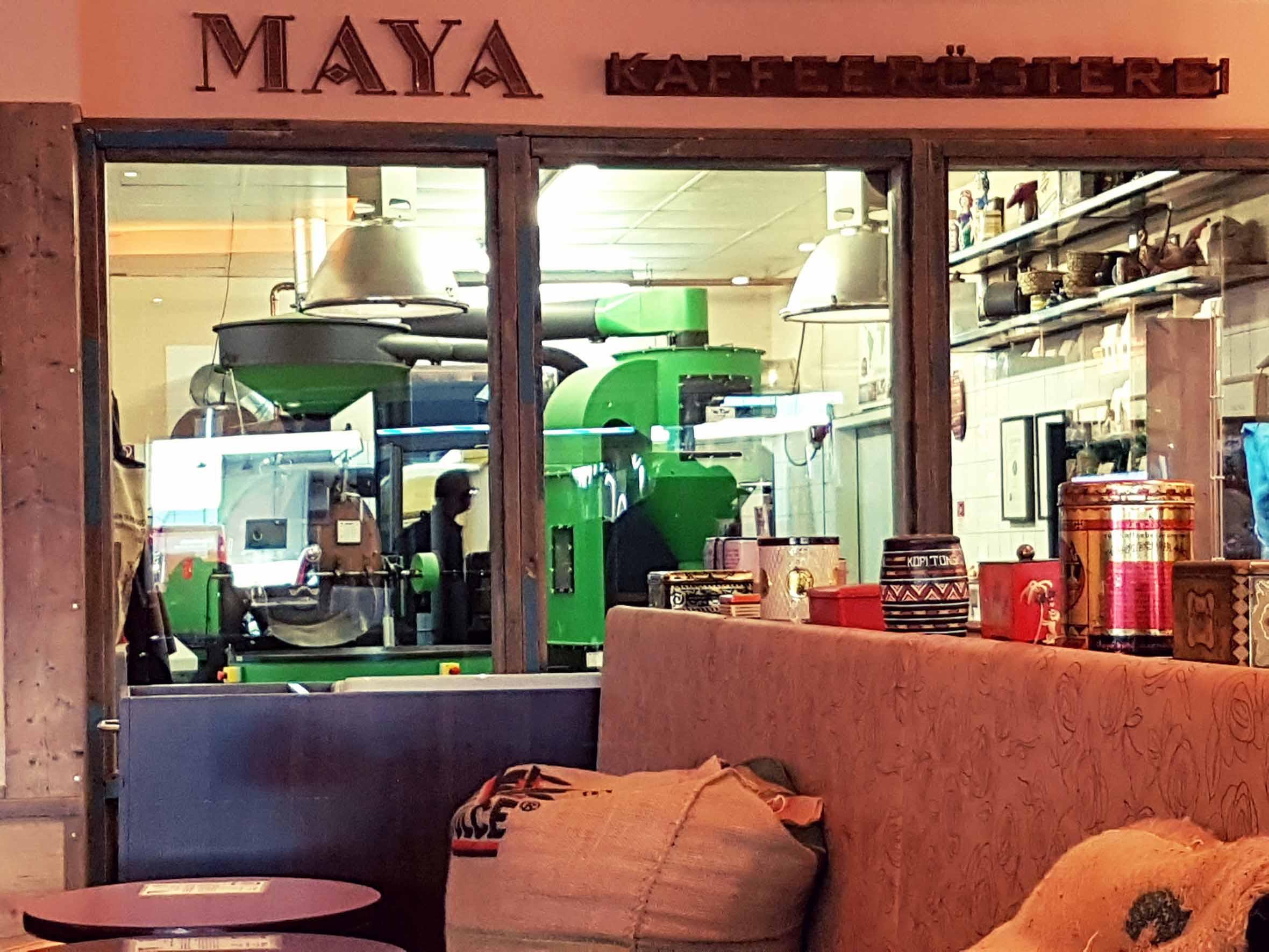 Hamburg Maya Kaffeerösterei Röstanlage
